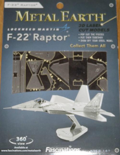 F-22 Raptor Airplane Metal Earth