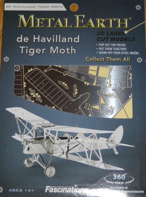 de Havilland Tiger Moth Airplane Metal Earth