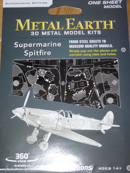 Supermarine Spitfire Airplane Metal Earth