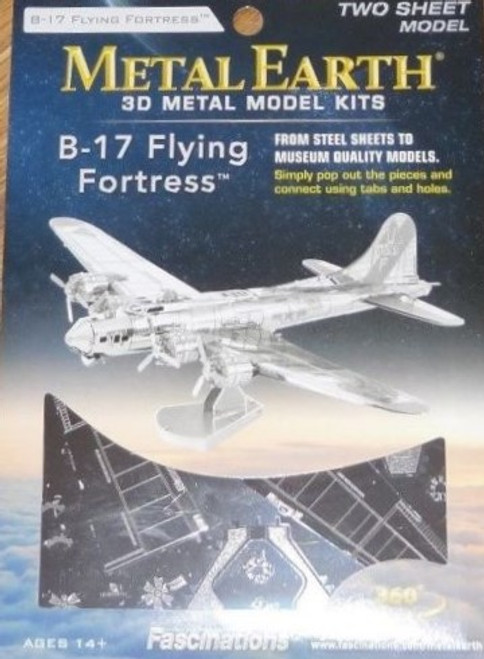 B-17 Flying Fortress Airplane Metal Earth
