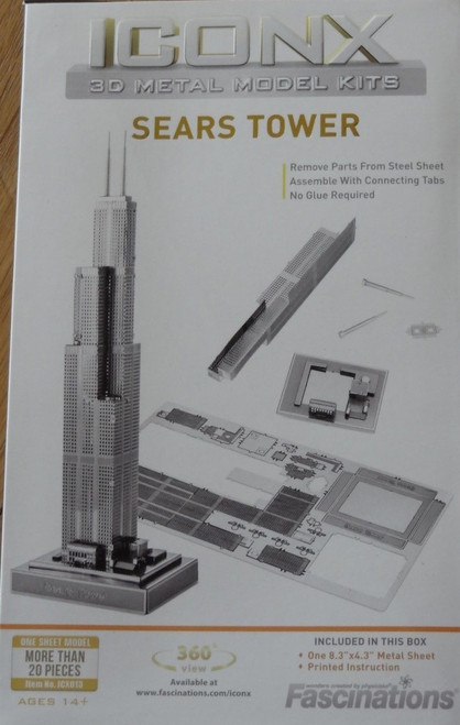 Sears Tower ICONX 3D Metal Model Kit