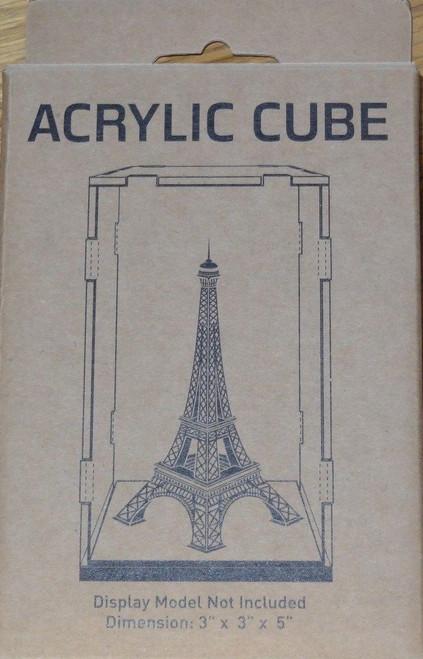 """Acrylic Display Cube 3""""x3""""x5"""" Metal Earth"""