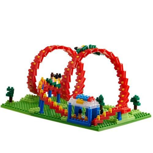Roller Coaster Amusement Ride TICO Mini Building Bricks