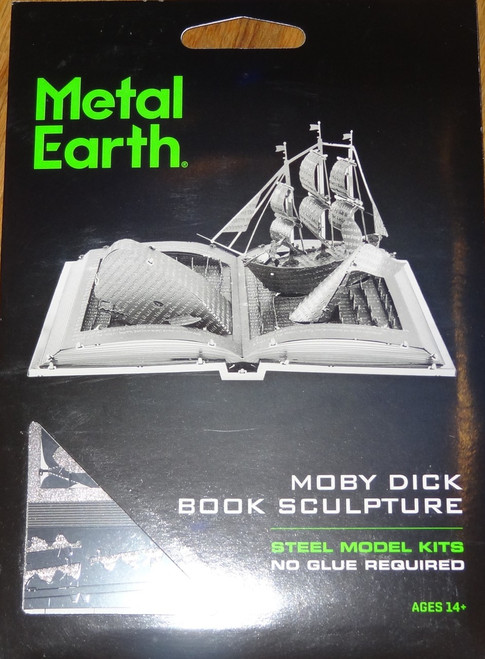 Moby Dick Book Sculpture Metal Earth
