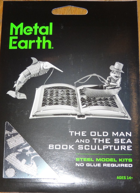 The Old Man And The Sea Book Sculpture Metal Earth
