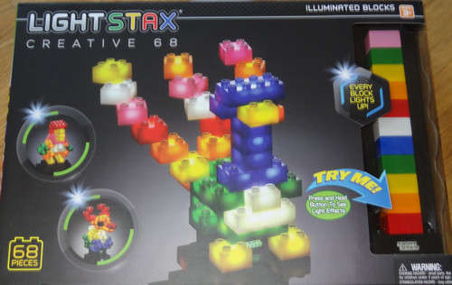 Light Stax Creative 68 piece Light up Building Block