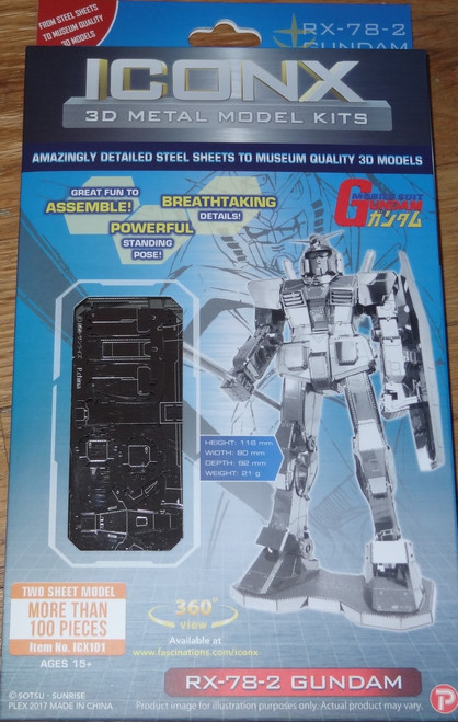 RX-78-2 Gundam ICONX 3D Metal Model Kit
