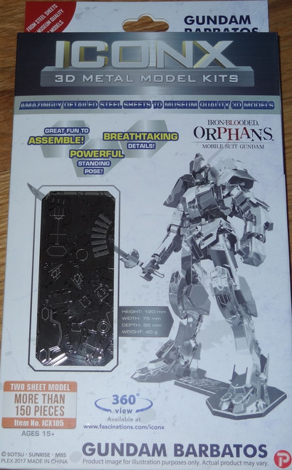 Gundam Barbatos ICONX 3D Metal Model Kit Gundam