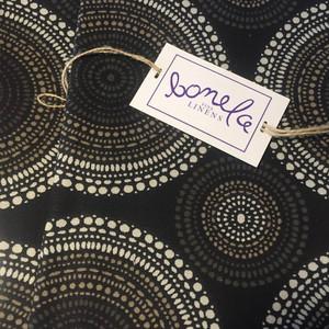 Bonela Linens - Black Spiral