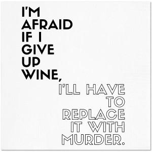 Wine/Murder Cocktail Napkins