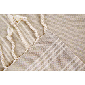 Beige with White Turkish Napkins S/4