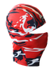 navy Blue and red Camo