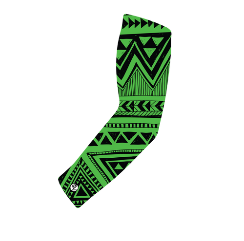 Neon Green and Black Tribal Print - Kings Print