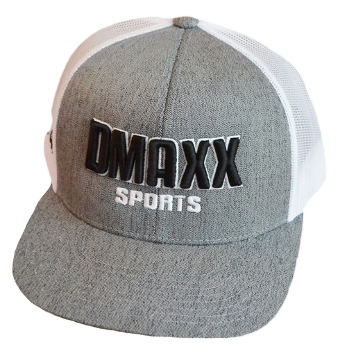 Dmaxx Sports Field Cap - Grey with Mesh snap back.