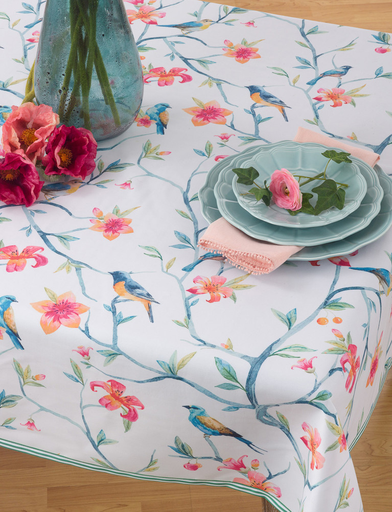 TABLE TOPPER PRINTED BIRD