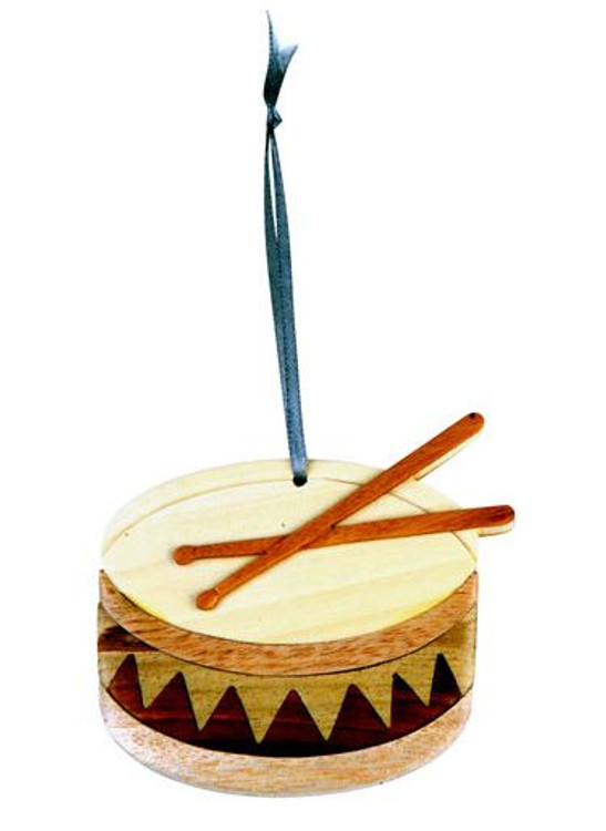 Ornament Wood Drum