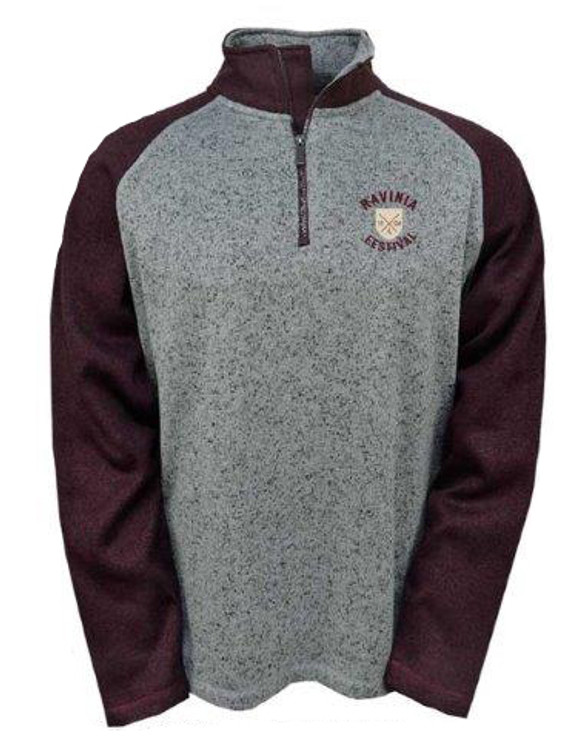 SWEATER JACKSON GRAY & GARNET