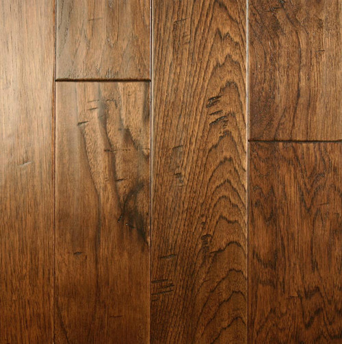 "ARK Floors Artistic Collection 1/2"" x 5"" Hickory Mocha Engineered Hardwood"