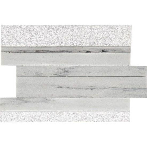 "American Olean Ascend Stone Candid Heather Mixed Finish 9"" x 12"" Modern Stack Stone"