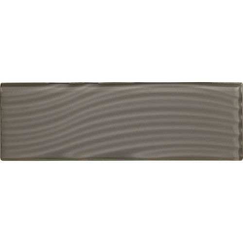 "American Olean Color Appeal Abstracts Charcoal Gray 4"" x 12"" Glass Tile"