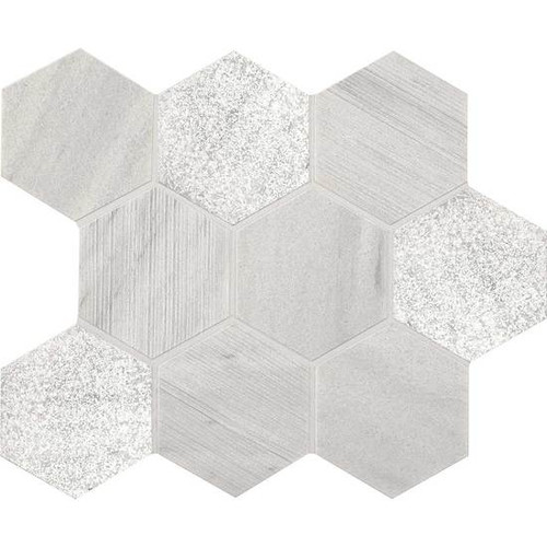 "American Olean Ascend Stone Candid Heather Mixed Finish 4"" Hex Mosaic"