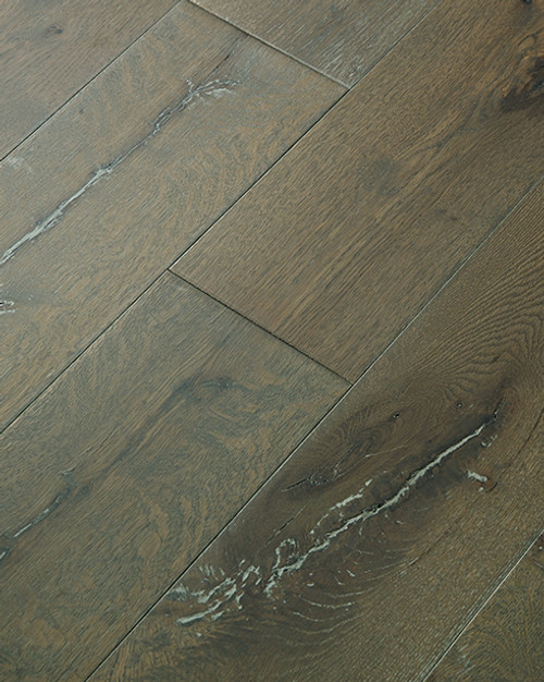 "Heritage Hardwood Color Touch Coyote Hand Scraped 1/2"" x 7"" Engineered Hardwood"