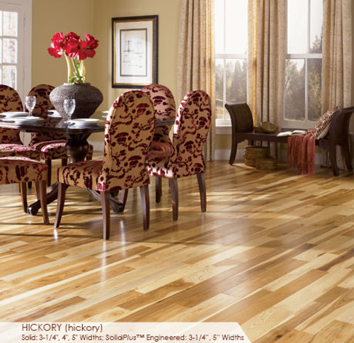 Somerset Character Collection Engineered Plank Hickory Natural 5""