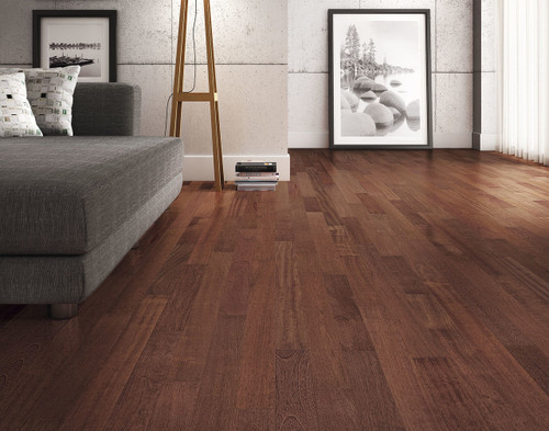 "Triangulo Brazilian Cherry Royal 1/2"" x 5 1/4"" Engineered Hardwood"