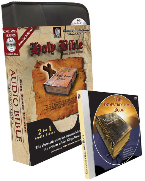"""KJV Complete Bible """"Special Edition"""" (MP3/CD) with Indestructible Book DVD and Bible in One Hour"""