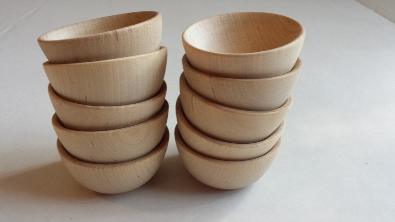 Miniature Wooden Bowl 2-1/2  x ... & Wooden Items - Miniature Bowls Plates Spools u0026 Cups - Your Craft ...