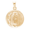 Virgin Mary / Jesus 14K Gold - 2 Sided - 3.1 Gr. - MRD-415 Side 1