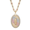 Yellow / White / Red Gold Medal - CZ - St. Jude - 14 K - RP207
