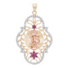 Yellow / White / Red Gold Quinceanera Pendant - 14K - XVP203