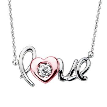 Love Silver Pendant- CZ - 0.925 - PW061