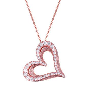 Love Silver Pendant- CZ - 0.925 - PW041