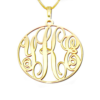 14k Gold Monogram Necklace  - ANG303