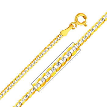 Yellow / White / Red Gold Chain - Cuban WP- 2.0 mm - CH130