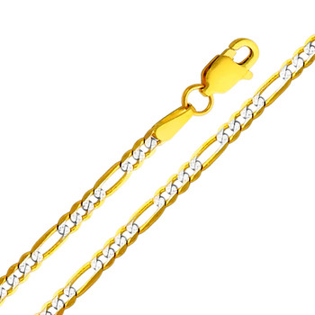 Yellow Gold Chain - 14 K. Figaro WP- 2.3 mm - CH122