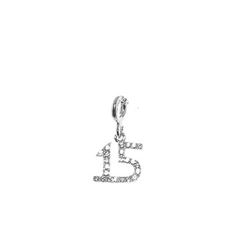 Forever 15 - Silver Pendant with CZ -  2.57 gr. - FFS03