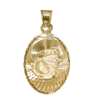 Yellow Gold Baptism Medal - 14 K - 1.7 gr. - V170