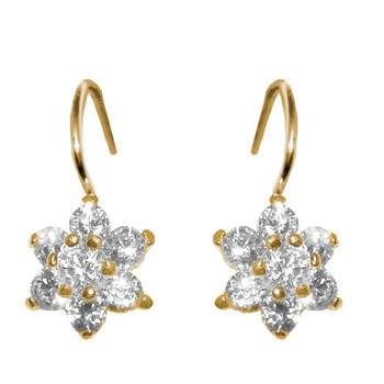 Forever 15 - Gold Earrings with CZ - 14 K - 580701W