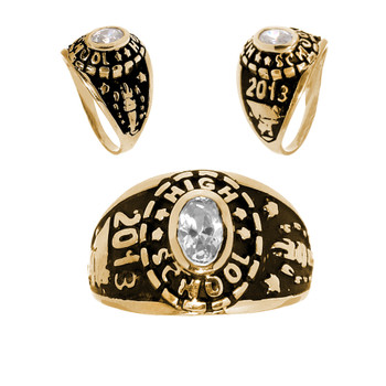 Graduation Ring / Yellow Gold 14K - 4.5 Gr. - ORO-P03