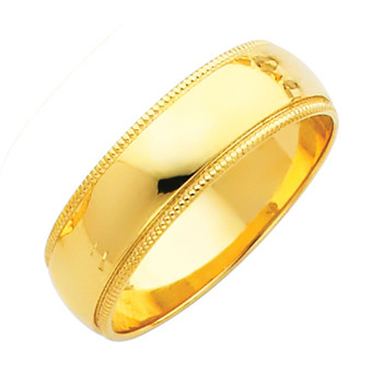 Yellow Gold Wedding Band (6mm - 4.9Gr.) - BMR060