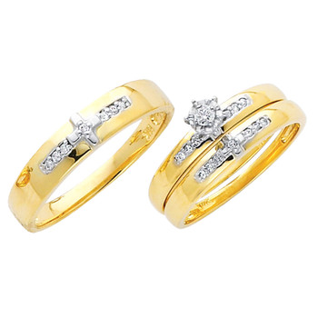 Yellow / White Gold Trio Set - TDR15