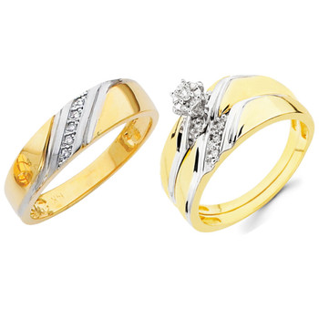 Yellow / White Gold Trio Set - TDR02