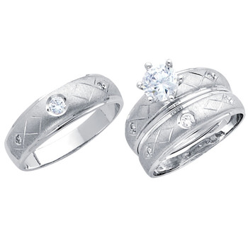 White Gold Trio Set - 14 K - TC193
