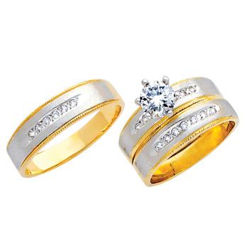 Yellow / White Gold Trio Set - TC133