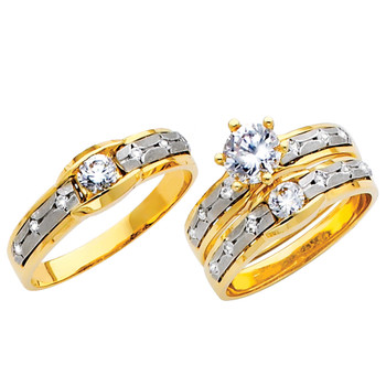 Yellow / White Gold Trio Set - TC125