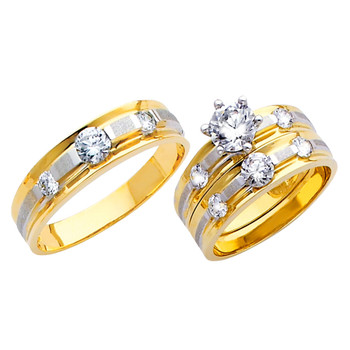 Yellow / White Gold Trio Set - TC123