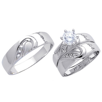 White Gold Trio Set - 14 K - TC169